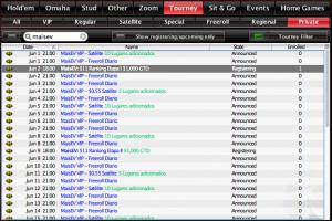 Lobby do PokerStars