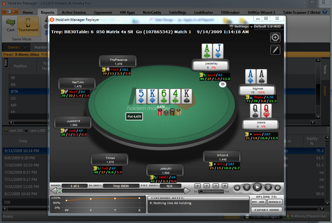 Holdem Manager 2 replayer
