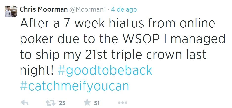 Chris Moorman 21 tríplice coroa