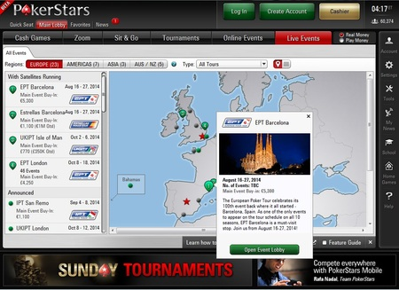 Novo software pokerstars 7 eventos ao vivo