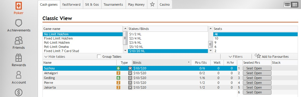 Party Poker High Stakes