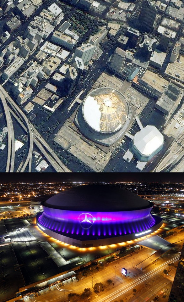 superdome antes depois katrina pokerstars saints