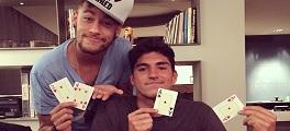 Neymar Gabriel Medina Poker
