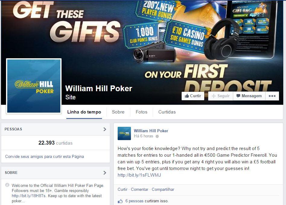 William Hill facebook