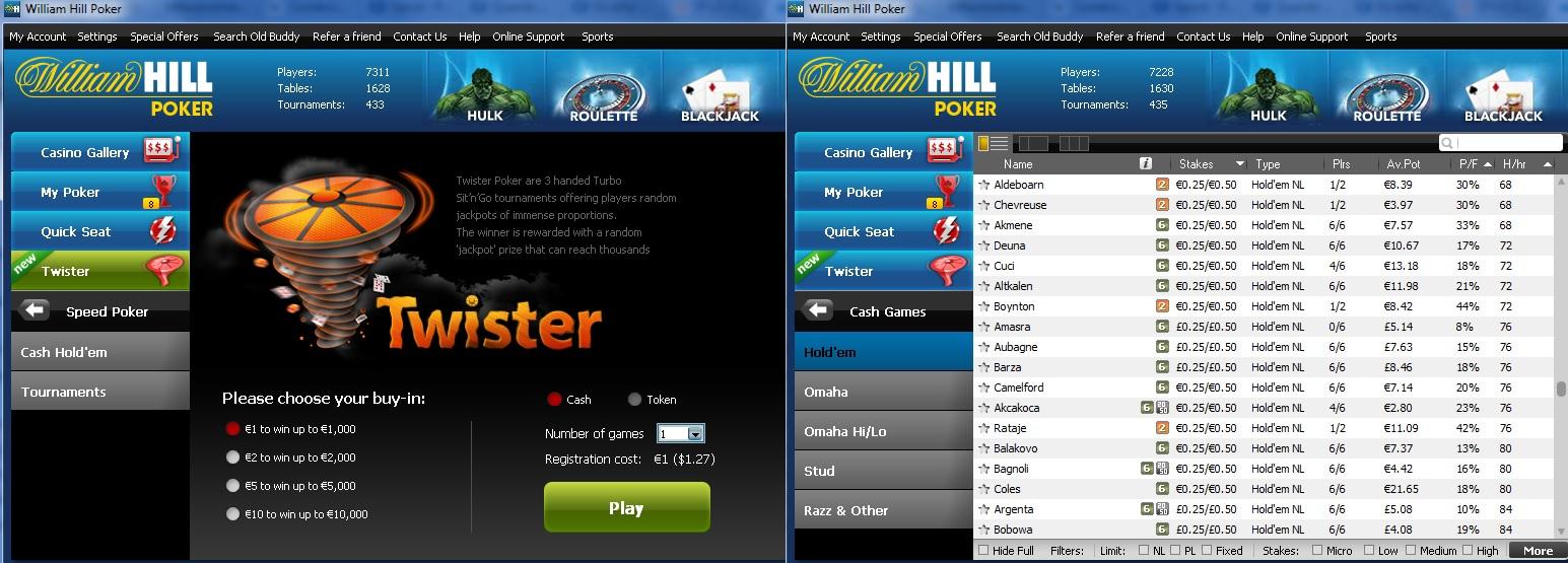 William Hill Twister Cash