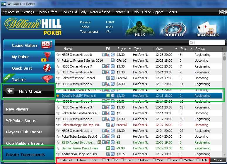 William Hill desafio iphone 6 maisev