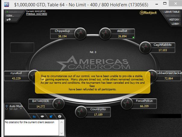 ddos winning poker