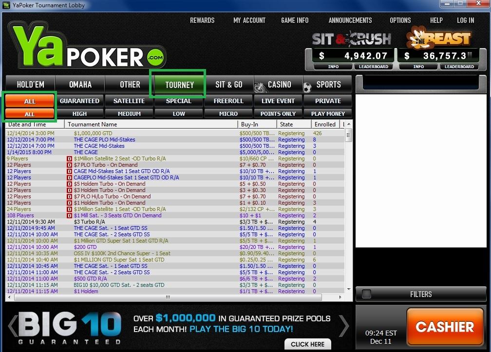 online super series iv winning millions ya poker lobby