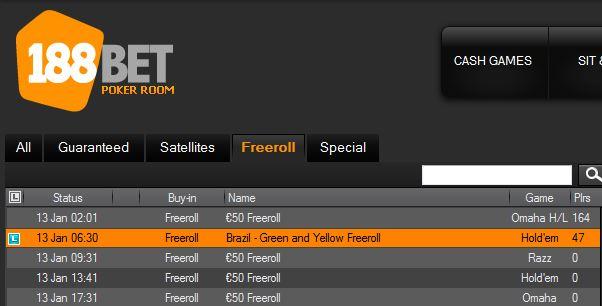 freeroll no 188bet