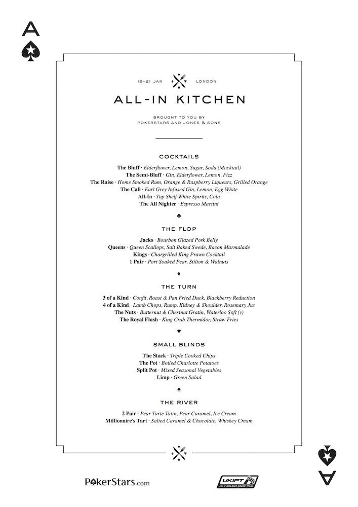 restaurante conta menu