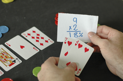 pot odds matemática do poker