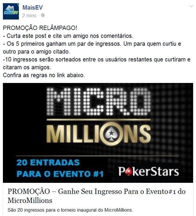 promo micromillions fb