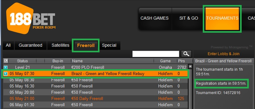 188bet freeroll rebuy