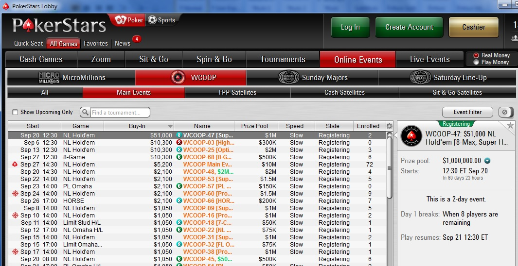 wcoop grade pokerstars