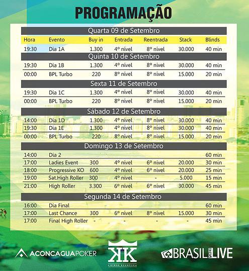Brasil Poker Live Programação