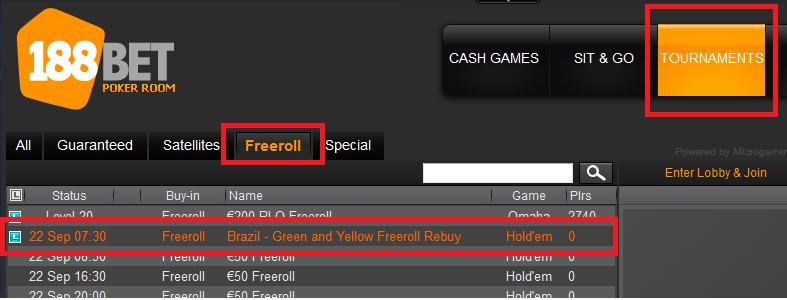 21 set 188bet freeroll