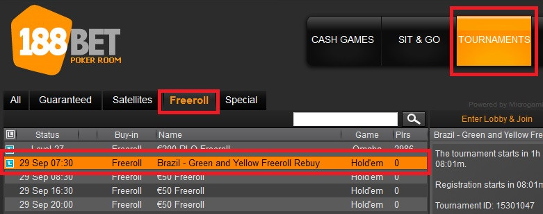 28 set 188bet freeroll