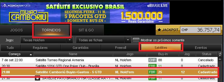satelite camboriu brasil poker live