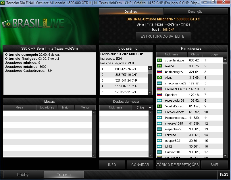 resultado outubro milionario brasil poker live