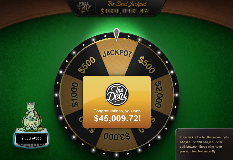 the deal jackpot full tilt