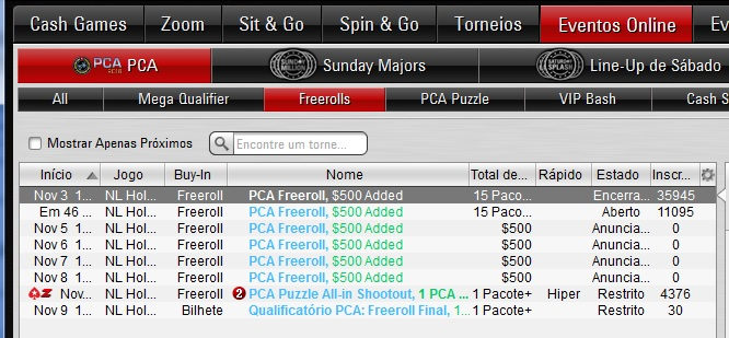 PCA PokerStars