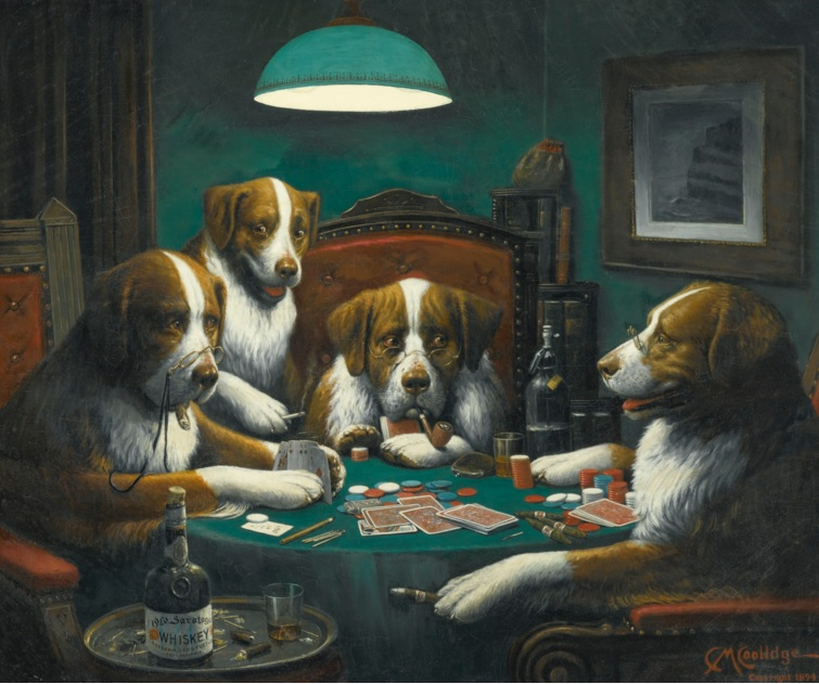 pintura poker game coolidge