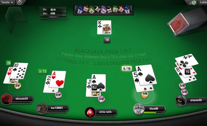blackjack pokerstars