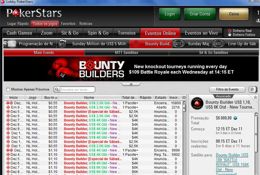 bounty builders pokerstars