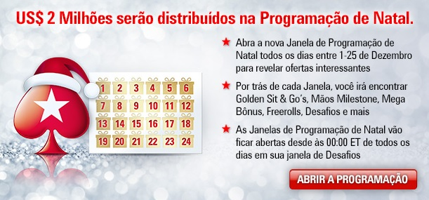 calendario de natal g pokerstars
