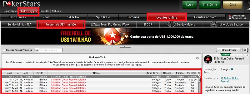 freeroll pokerstars 1 milhão gg