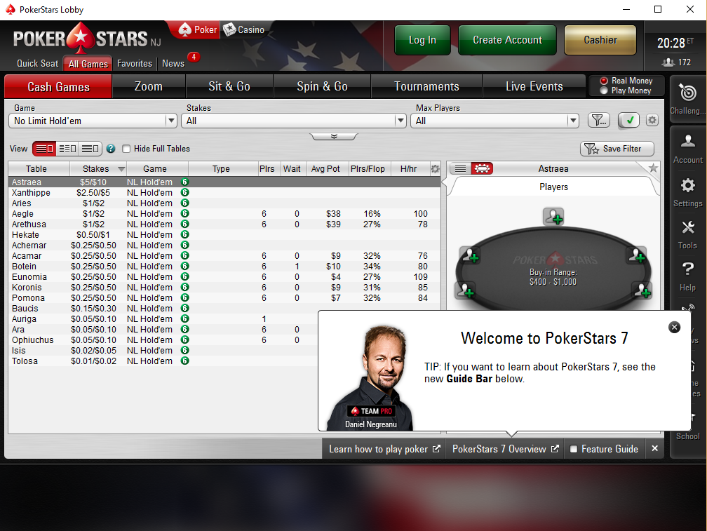 lobby pokerstars new jersey