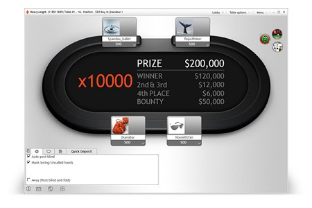 sit hero partypoker 450