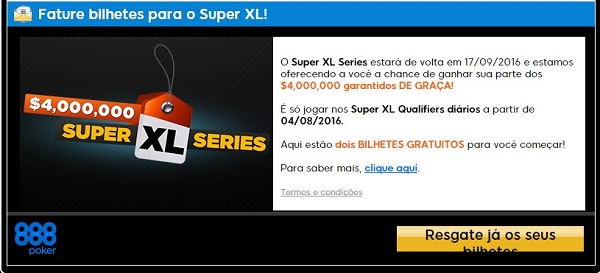super xl series bilhetes