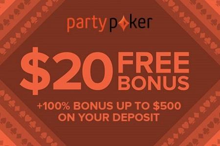 20 bonus partypoker 450