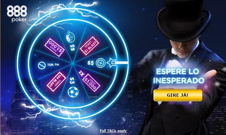 roleta espere o inesperado 888poker