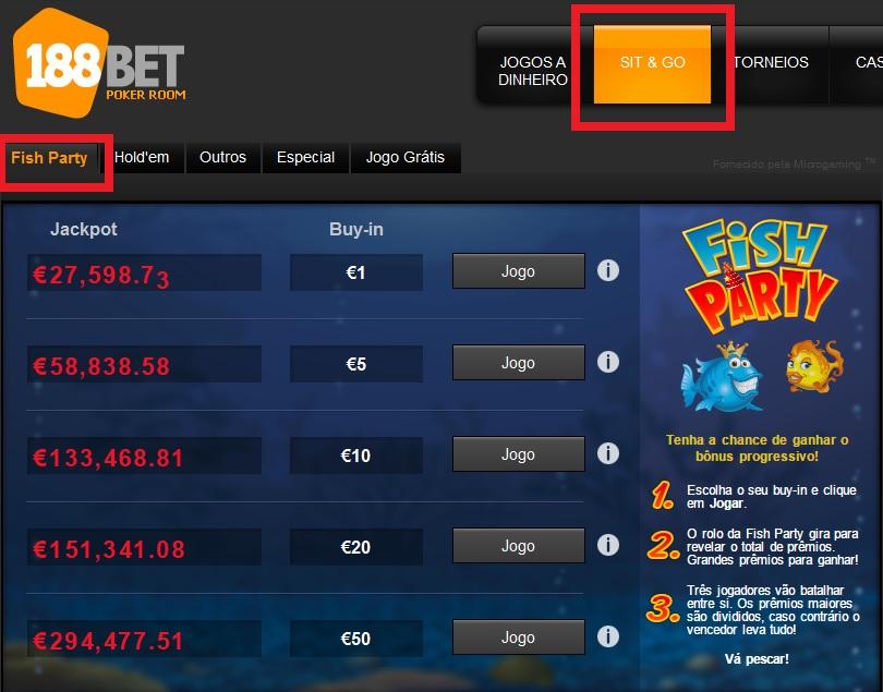 lobby fish party 188bet jackpot
