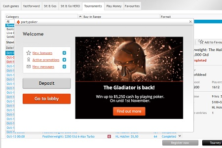 the gladiator partypoker 450