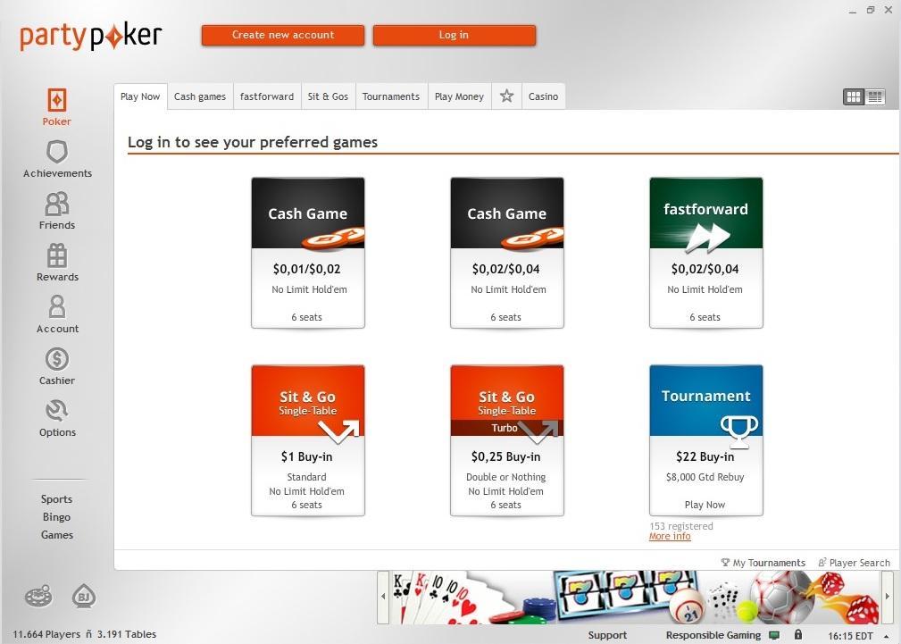 Partypoker Lan 231 A Novo Software Veja As Imagens Poker 233