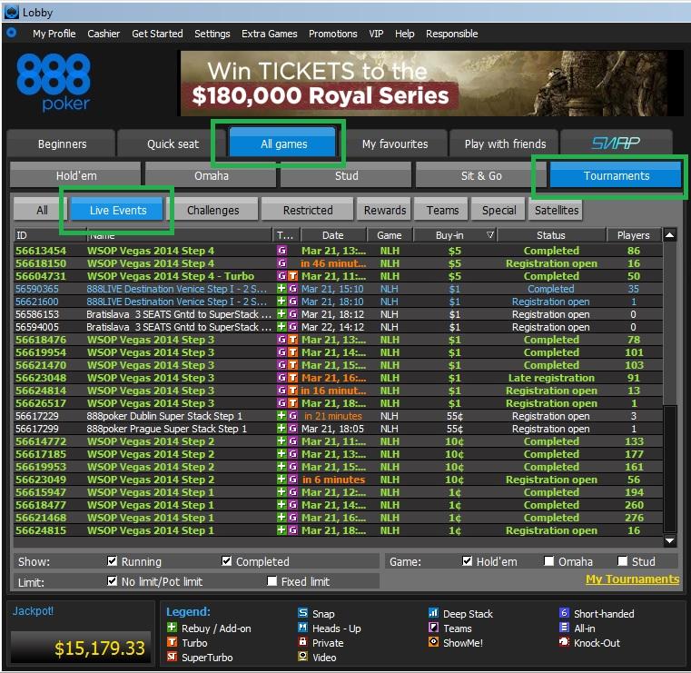 888poker Steps WSOP Lobby