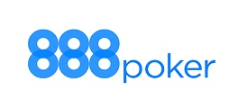 888 poker logo branco azul