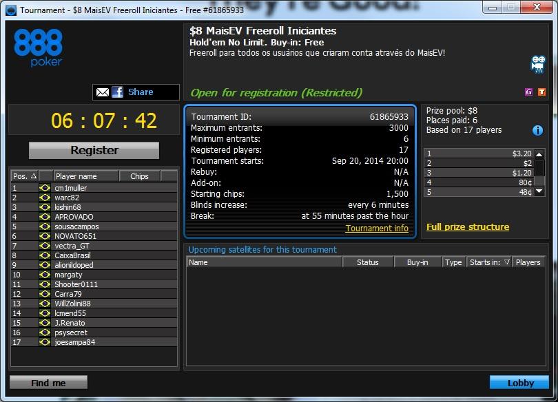 freeroll 888poker
