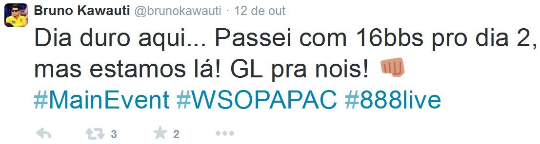 Bruno Kawauti Twitter WSOP APAC ME Tobias Reinkemeier