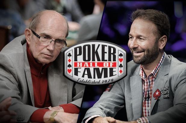 Jack McClelland e Daniel Negreanu no Hall da Fama do Poker