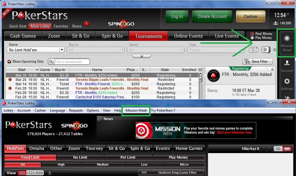 PokerStars Semana de missões