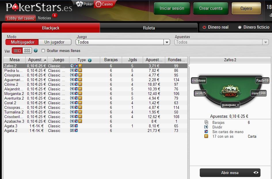 Jogos de cassino PokerStars