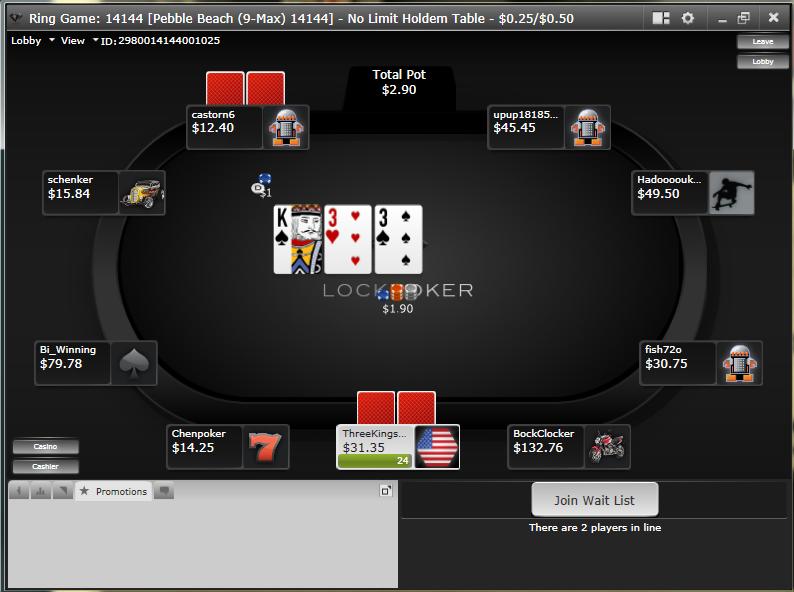lock poker sala