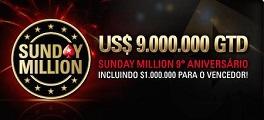 sunday million 9 milhões
