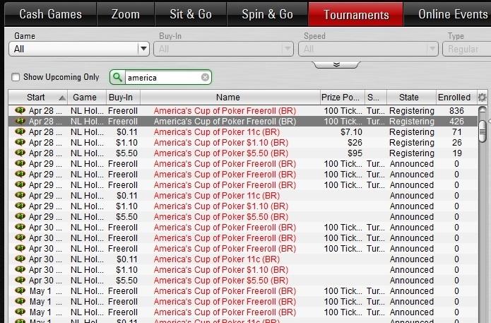 americas cup of poker lobby 2