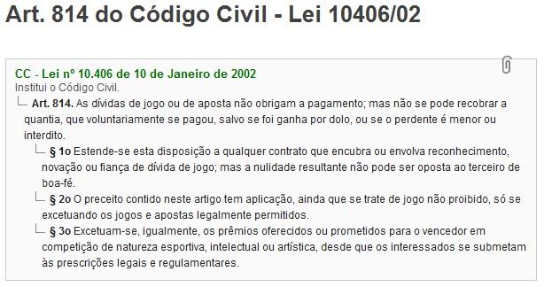 art 814 código civil