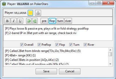 PokerTracker 4 notes